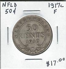 Canada Newfoundland NFLD 1917c Silver 50 Cents F
