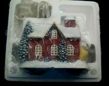 New Listing2002 Hawthorne Village Thomas Kinkade Village Red School House Lighted New