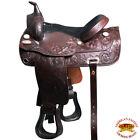 C-Z-18 18 In Western American Leather Draft Horse Saddle Trail Pleasure Hilason