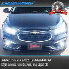 Fits Chevrolet Cruze 2016-2018 H11 9005 H11 LED Headlight, Fog Light Combo Bulbs