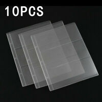 10Pcs Holder Paper Money Album Page Currency Collection Binder Folders 3 Pockets