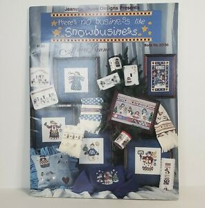 There's no business like Snowbusiness  by Alma Lynne  Cross Stitch Leaflet 1998