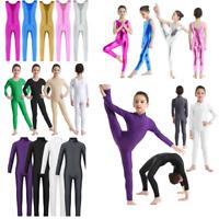 Girls Ballet Leotard Sport Gymnastics Catsuit Jumpsuit Full Unitard Dancewear