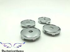 4pcs 60mm Chrome Wheel Hubs Center Hub Cap Universal Wheel Rim Hub Cover Caps