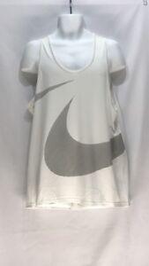 Nike Hyper Dry Training Tank Top Men New White Black Tee 889633-100 sz L