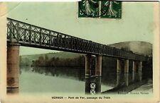 CPA   Vernon - Pont de Fer,passage du Train (297264)