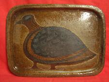 Ancien plateau en céramique signé monogramme  J B ou JL B