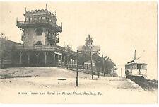 READING PA MOUNT PENN TOWER & SUMMIT HOTEL TROLLEY SPANA CUBA CIGARS c1905