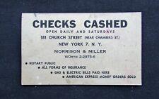 1940's Morrison & Miller Key to New York Blotter - Tribeca - Manhattan NY