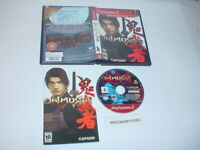 ONIMUSHA: WARLORDS game complete in case w/ manual for Sony Playstation 2 PS2