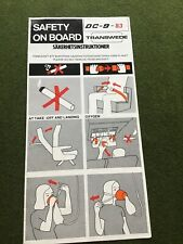 safety card  transwede dc 9 83