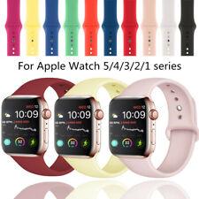 Reloj deportivo banda de silicona para Apple iWatch serie 6 5 4 3 2 1 40mm 44mm 38 42mm