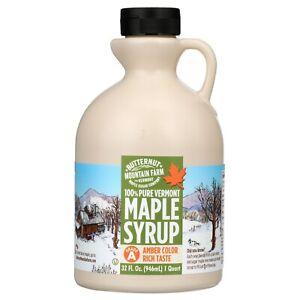 Butternut Mountain Farm 100% Pure Vermont Maple Syrup 32 fl oz