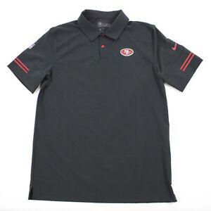 San Francisco 49ers Nike Dri-Fit Polo Men's Black Used