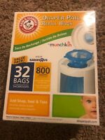 Munchkin Arm /& Hammer Diaper Pail Refill Bags 20 for 600 DIAPERS CHEAP!! NO TAX