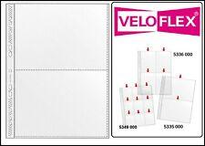 100 Veloflex A4 Sammelhüllen Prospekthüllen Kartenhüllen 140my 2x A5 215x150 mm