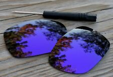 Polarized Dark Purple Violet Mirror Sunglass Lenses for Oakley TwoFace Grey Tint
