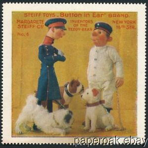 Two ca1915 Margarete Steiff Co. Toys Advertising Poster Stamps