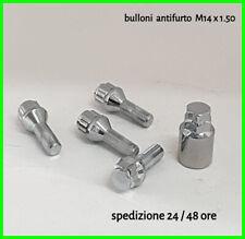 kit bulloni antifurto cerchi audi a3 a4 a1 s3 golf polo mercedes seat m14 x 1.50