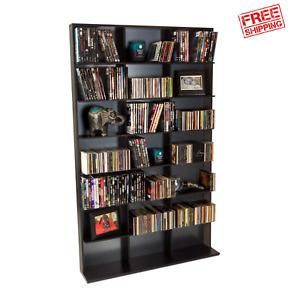 Cd Dvd Storage Shelf Rack Media Tower Stand Video Game Organizer Cabinet Display