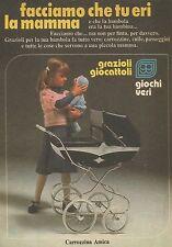 X9932 Carrozzina Amica - GRAZIOLI Giocattoli - Pubblicità 1976 - Advertising