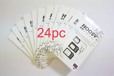 24PC LOT NOOSY SIM Card Black Adapter 4-in-1 Nano to Micro Standard Converter