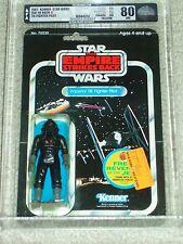 Vintage Star Wars 1982 AFA 80/85/80 TIE FIGHTER PILOT ESB CARD 48 BACK-C MOC!