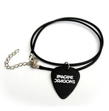 "IMAGINE DRAGONS Guitar Pick printed logo 18"" picks plectrum synthetic necklace"