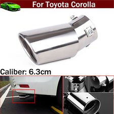 1pcs Curved Exhaust Muffler Tail Pipe Tip Tailpipe For Toyota Corolla 2004-2019