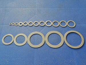 Paßscheiben 3 bis 40 mm DIN 988, Distanzscheiben, Stahlausgleichsscheiben blank