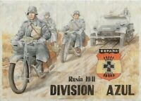 8x12 WW2 RATION SHEET w NAZI MOTORCYCLE TROOPS/ARMORED CAR, SWASTIKA! RUSSIA '42