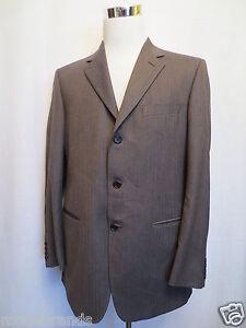 Designer Sakko UNGARO 52 Blazer Jacket braun Schurwolle wie NEU /RH