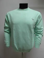 GANT suéter de hombre algodón cuello redondo art.88171 col. VERDE MENTA TG.2XL