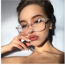 Cute Style Transparent round glasses clear frame Women Spectacle myopia glasses