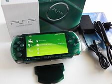 SONY PSP 3000 Console Spirited Green Limited Color w Battery Charger Box Set