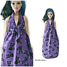 Handmade Barbie dress BLACK CAT - Fits Curvy Barbie, and vintage Barbie
