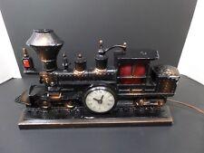 Vintage United Clock Locomotive Steam Engine Train