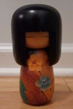 "Japanese Wooden Kokeshi Doll 6"" Tall"
