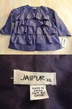 Women's Jaipur XL NWT Purple Layered Blouse Button Up 3/4 Sleeve