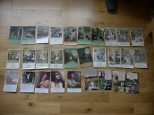 SUPERB COLLECTION OF 29 VINTAGE POSTCARDS ALL WW1 WAR SOLDIERS SONG CARDS E