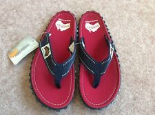 Gumbies - Islander Canvas Flip-Fop Red and Blue Size 6