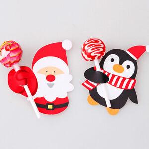 50pcs Lollipop Lolly Sugar-loaf Paper Card Holder Christmas Party Decoration