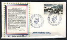 1975-Enveloppe-Fdc 1°Jour**Appel du 18 Juin-Obl.Vassieux.Timbre.Yt.1604