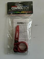 ControlTech Alloy Control Bicycle Seat Clamp, 31.8mm Red, Brand New!