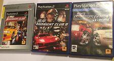3 PLAYSTATION 2 PS2 GAMES Midnight Club STREET RACING 1 I 1st ORIGINAL +II 2 + 3