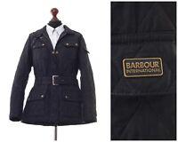 Women's BARBOUR INTERNATIONAL Quilted Quilt Jacket Coat Black Size UK 16 US 12