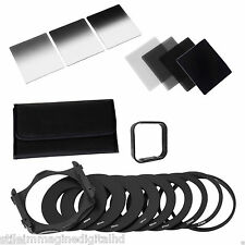 7 FILTRI Graduated Neutral Density ND 2 4 8 16 filter set Holder for Cokin P new