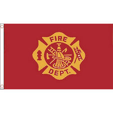 Fire Department Flag 5Ft X 3Ft 999 Emergency Services Fire Fighter Banner New