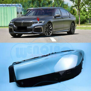 Left Side Headlight Clean Cover PC+Glue For BMW G11 G12 7-Series 2020-2021