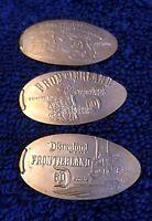 Disneyland Resort elongated penny cent D60 -set of 3- Frontierland - War Canoe